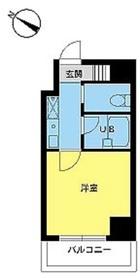 スカイコート日本橋人形町第22階Fの間取り画像