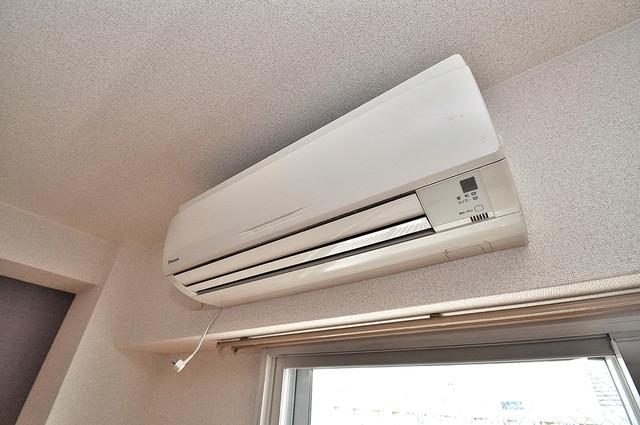 グランデージ長田東 エアコンが最初からついているなんて、本当に助かりますね。