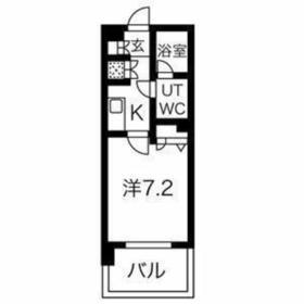 スパシエカステール横浜吉野町4階Fの間取り画像