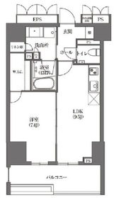 HAMACHO APARTMENTS4階Fの間取り画像