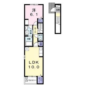 Confort(コンフォルト)2階Fの間取り画像