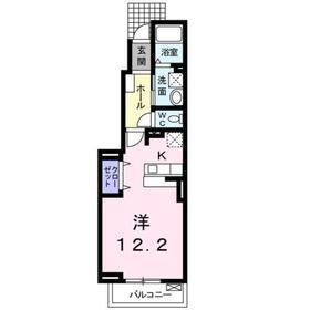 サンリット・レジデンス Ⅱ1階Fの間取り画像