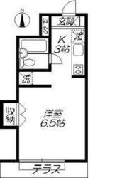 コーポ・セガミ1階Fの間取り画像