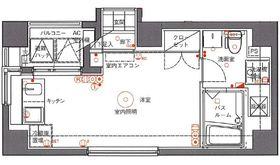 アランシア鶴見2階Fの間取り画像