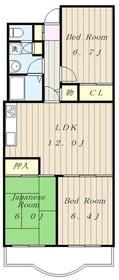 相模原パークハイツ1階Fの間取り画像