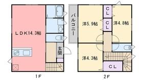 フローリッシュ桜花1階Fの間取り画像