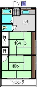 日吉本町駅 徒歩16分2階Fの間取り画像
