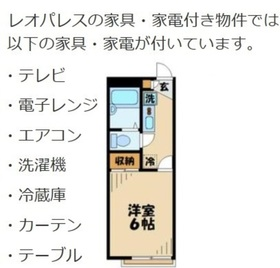 レオパレスYamamoto1階Fの間取り画像