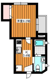 メゾンタチバナ1階Fの間取り画像