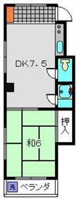 菊名駅 徒歩22分3階Fの間取り画像