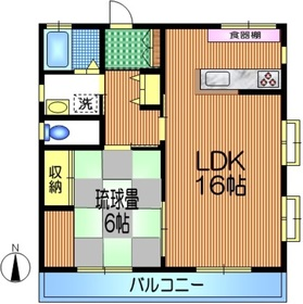 福澤2階Fの間取り画像