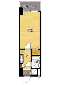 ラ・レジダンス・ド・福岡県庁前 : 4階間取図