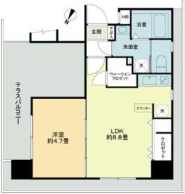 グランリーヴェル横濱南AIRY1階Fの間取り画像