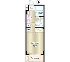 メゾン武蔵野7階Fの間取り画像