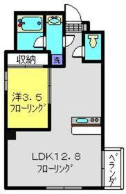 コルディア横濱サウス4階Fの間取り画像