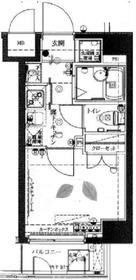 ヴェルト横濱石川町II5階Fの間取り画像
