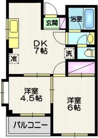 エステートSUN3階Fの間取り画像