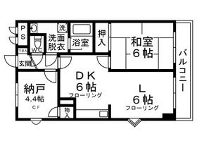 パークサイドレジデンス5階Fの間取り画像