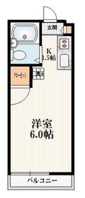 コーポ多田3階Fの間取り画像
