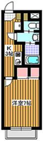 サンライズハウスB棟2階Fの間取り画像