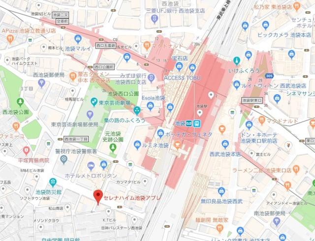 池袋駅 徒歩3分案内図