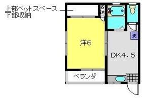 長谷川ハイツ2階Fの間取り画像