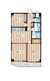 メルクマール6階Fの間取り画像