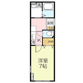オリオンパーク2階Fの間取り画像