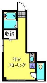 第1国武ビル2階Fの間取り画像