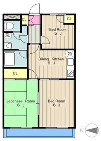 レジデンス214階Fの間取り画像