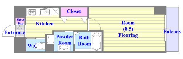 エイチ・ツーオー新深江 人気のセパレート物件。収納もあり、ゆとりの間取です。新築ですよ。