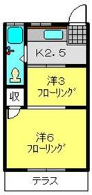 上野マンション1階Fの間取り画像