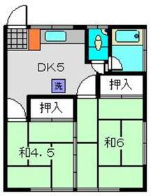 鈴木荘12階Fの間取り画像