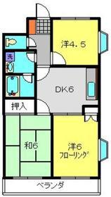 新川崎駅 徒歩27分3階Fの間取り画像