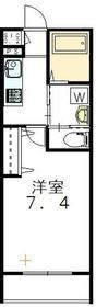 West Park Motoyoyogi2階Fの間取り画像