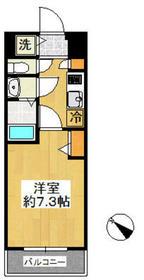 グランド・ガーラ新横浜South4階Fの間取り画像