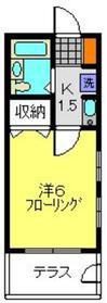 ポンヌフ菊名1階Fの間取り画像