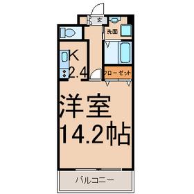 サンモールMARUHARA1階Fの間取り画像