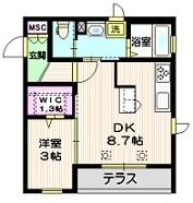 パーシモン21階Fの間取り画像
