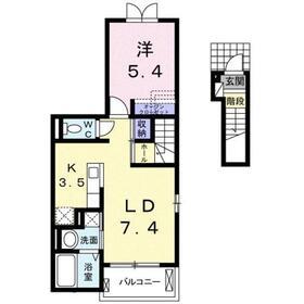 グランシャトー2階Fの間取り画像