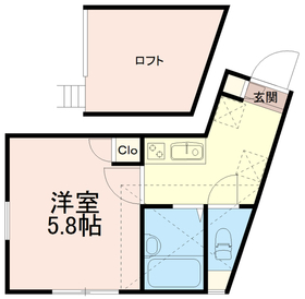 ソリッド中野島2階Fの間取り画像