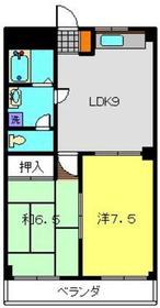 ハイツ27・3階3階Fの間取り画像