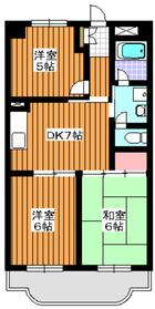 アーバンハイツNOA7階Fの間取り画像