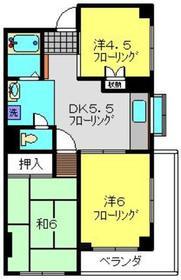 アローエスタ2階Fの間取り画像