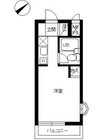 スカイコート戸塚4階Fの間取り画像