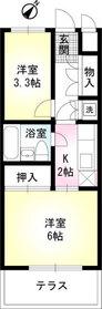 幡ヶ谷駅 徒歩7分4階Fの間取り画像