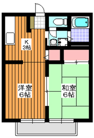 地下鉄成増駅 徒歩13分2階Fの間取り画像