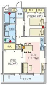 (シニア限定)ARK EDO(アークエド)4階Fの間取り画像